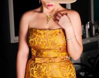 "Custom Designed and Made Brocade ""Marilyn Monroe"" Strapless Dress"