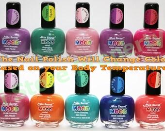 1 set of 10 Colors of Mia Secret - Mood Color Changing Nail Polish 10 Colors -Choose your Favorite Color