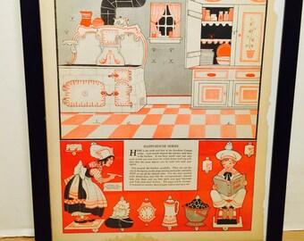 Kitchen Cottage Framed Picture