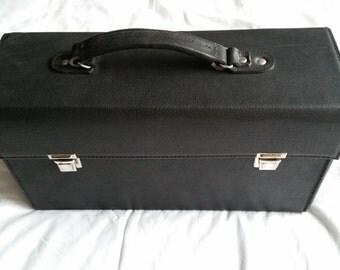 Vintage 1980's Black Leather Doctors Bag - NEW