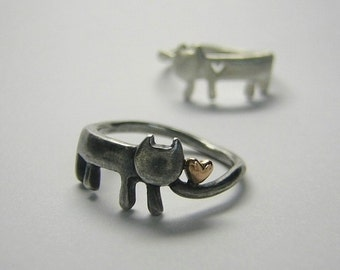 "cat silver ring "" meow that found the heart """