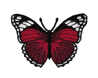 ae42 Butterfly Burgundy Red Iron on patches Embroidery Application +++ Free Shipping +++