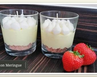 Lemon Meringue Glass Candle