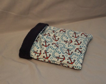 Small Animal Anchor Cuddle Bag Cotton and Fleece