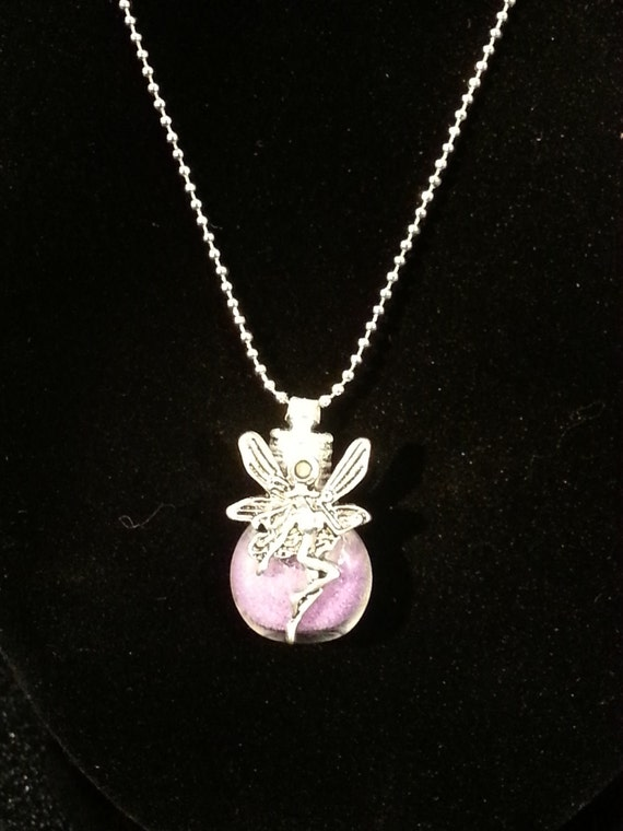glitter necklace pixie dust bling tinkerbell