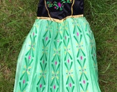 Anna coronation dress for Girls 5 to 8 yrs old