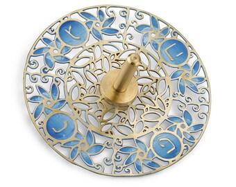Hanukkah, Made in Israel, Jewish Holiday, Dreidel Wind, Judaica