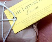 Lemon Lotion Bar -- Body Butter -- On-the-Go Lotion -- doTerra Lemon Essential Oil, Shea Butter, Mango Butter, Coconut Oil, Vitamin E