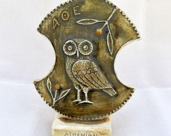 Athenian shield sculpture Ancient Greek symbol of wisdom