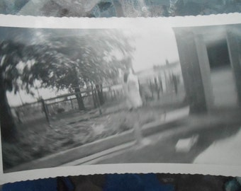 Vintage Original Photo Snapshot Abstract Blur Ghost Image Off Center Spin Effect
