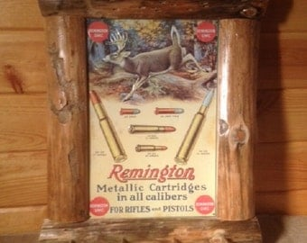 Rustic Log Framed Decorative Tins
