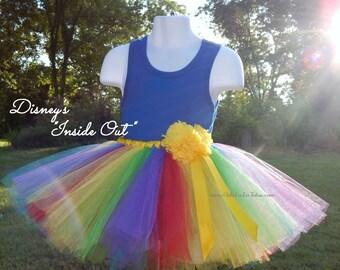 "Disney-Pixar ""INSIDE OUT TUTU! Custom Made! Theme Tutu! Adult Tutu Sz: XSmall - 6 XLarge"