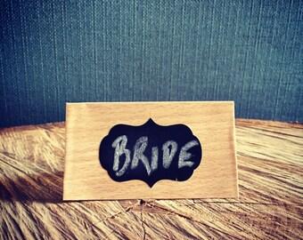 12 x small chalk board, self adhesive labels - BRACKET, vintage wedding accessories