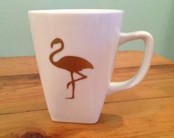 Gold flamingo mug