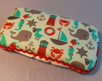 Decorative Fabric Diaper Wipe Holder/Clutch