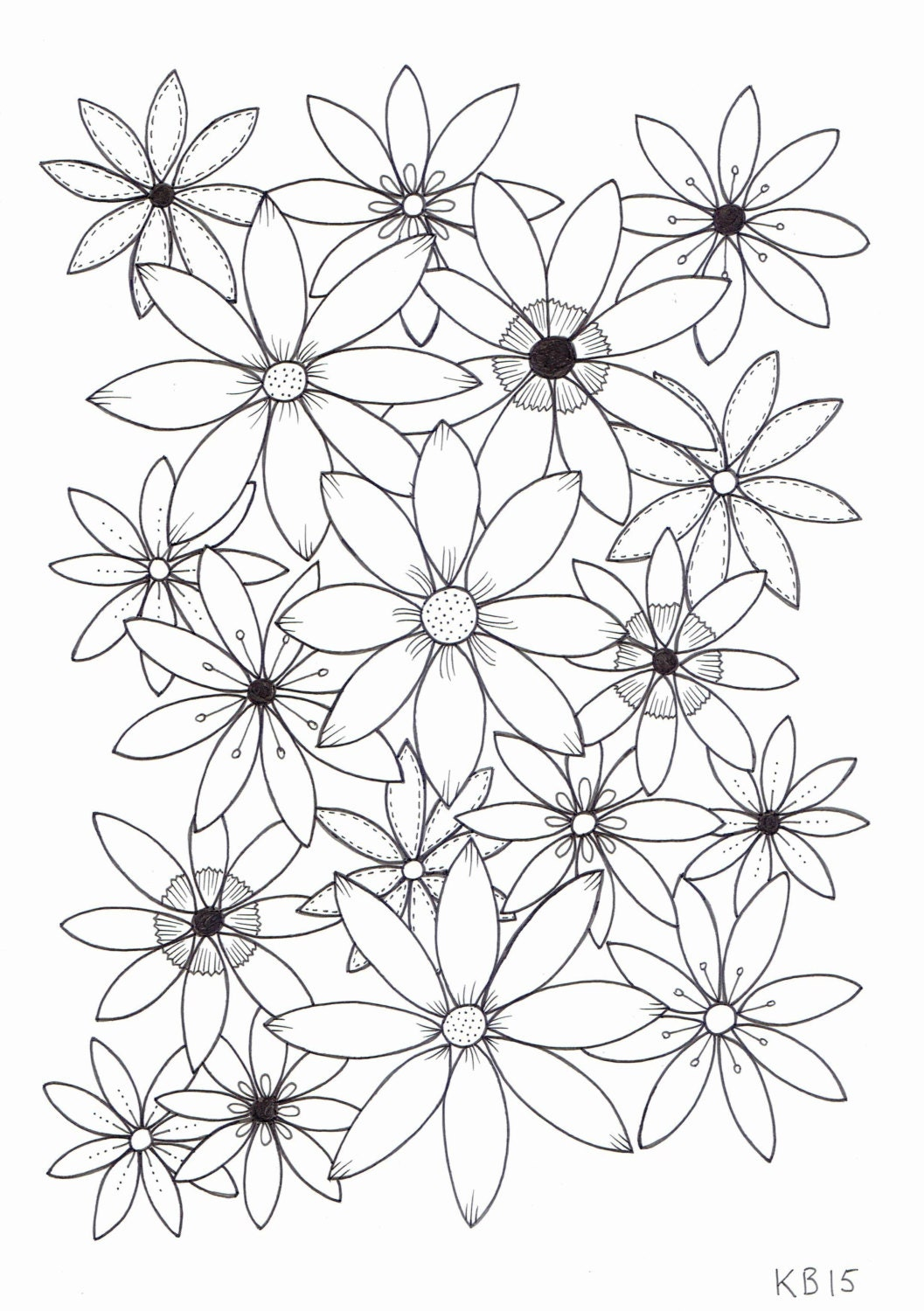 pics of coloring pages flowers - photo#16