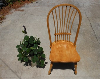Vintage Refinished Armless Chair Farmhouse Decor - Shabby Chic Chair - Cottage Chic