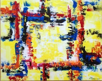 Yellow Plus - New Abstract Art