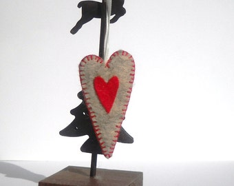Country heart Keyring