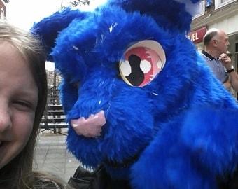 Blue cat fursuit partial BlÜberri