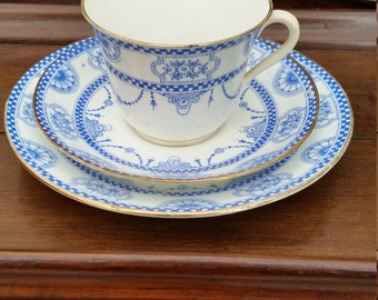 Edwardian cap saucer and side plate