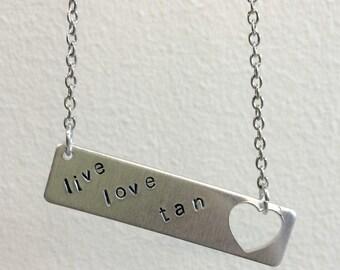 live love tan necklace