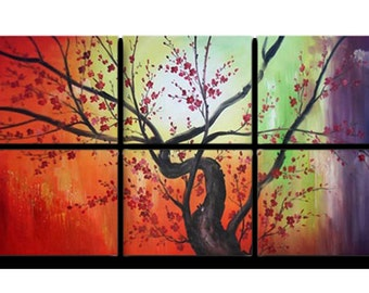 Colorful painting trees