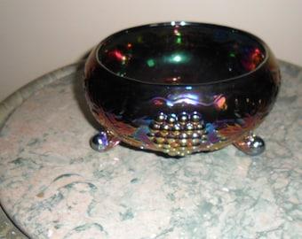 Carnival Glass Vintage Fenton Electric Blue ''FERNERY'' - Collectible Carnival Glass - Collectible Art Glass (145)