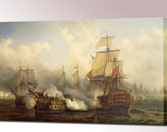 Redoutable at Trafalgar Home Decor Canvas Print Gift for Him Husband Gifts for Men Interior Design Ready to Hang Canvas Art
