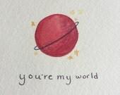 You're My World Postcard - Planet Yodagawa