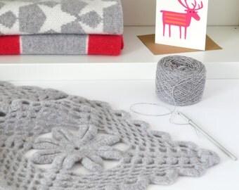 Luxury Crochet Soft Lambswool Throw Kit
