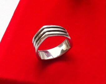 Vintage 950 Sterling Silver Ring 6.5