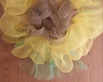 Handmade Sunflower Wreath