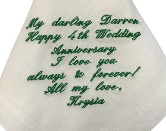 Personalised Irish Linen Gents Handkerchief