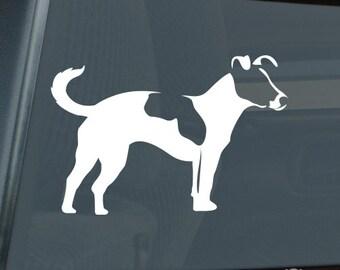 Jack Russell Terrier Profile Die Cut Vinyl Sticker - 209