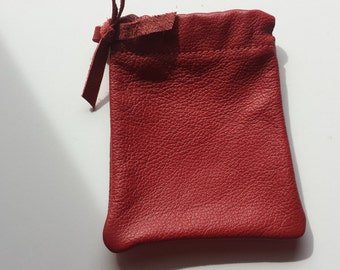 Leather Jewelry Bag/Pouch