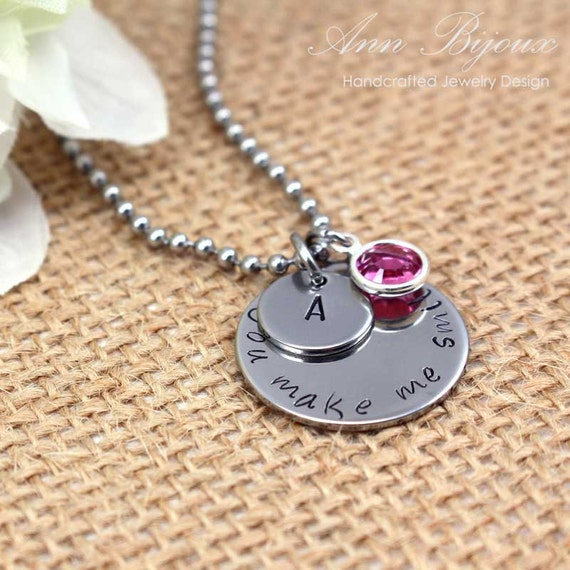 Items similar to personalized hand stamped initial for How do you make hand stamped jewelry