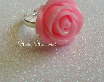 Baby Pink Adjustable Rose Ring