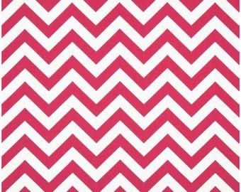 1/2 Yard Hot Pink and White Chevron Fabric - Premier Prints Candy Pink and White Zig Zag Chevron Fabric Pink Hot Pink Fuchsia HALF YARD