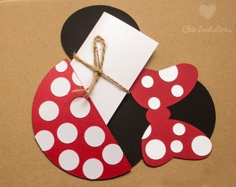 Minnie Mouse Invitation Mickey Birthday