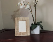 """Decoupaged MADE TO ORDER picture frame, 4""""x 6"""" - holiday - Christmas - Gift"""