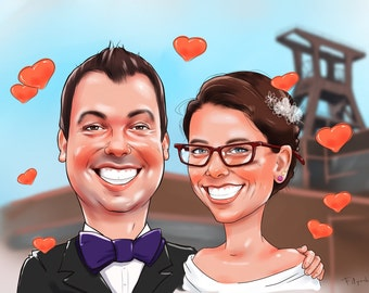 Couple Caricature from your Photo
