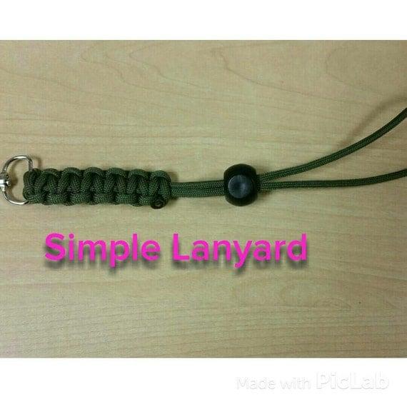 Simple customizable paracord lanyard cobra king cobra for Easy paracord lanyard