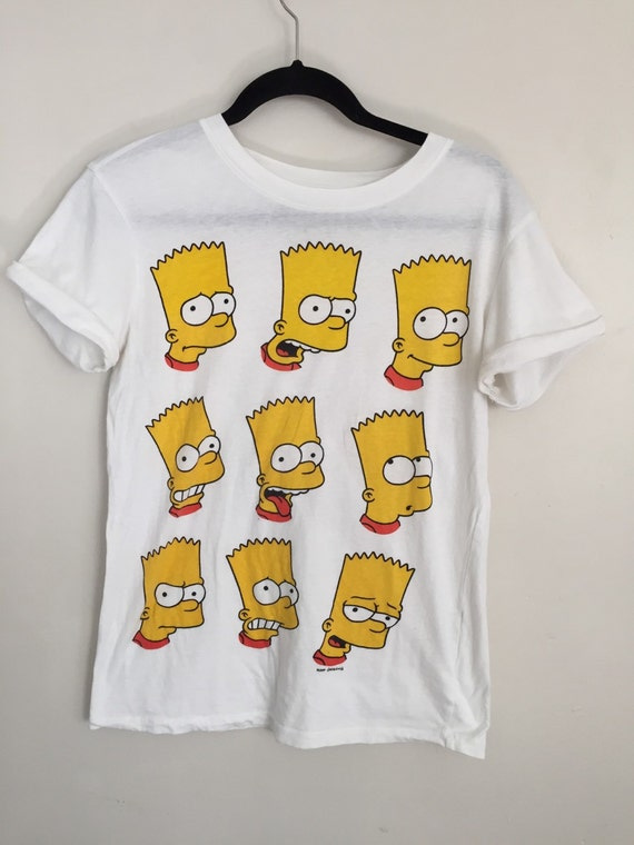 the simpsons shirt vintage t shirt bart simpson the many. Black Bedroom Furniture Sets. Home Design Ideas