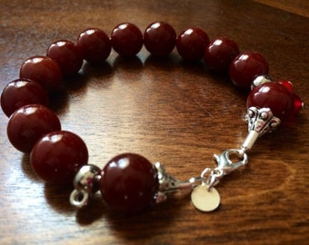 Beaded Bracelet (Coffee Brown)