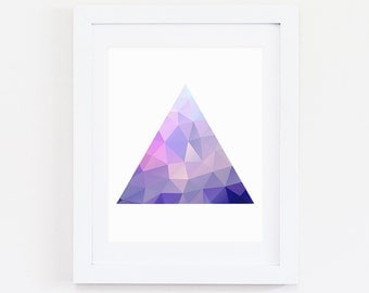 Triangle Art, Geometric Art Print, Digital Print, Geometric Print, Purple Print, Triangle Print, Triangle Art, Geometric triangle, Triangle