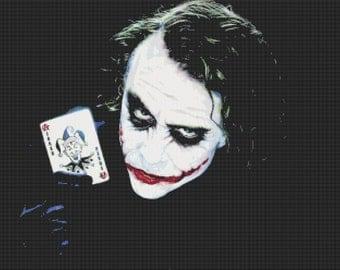 batman the joker cross stitch - 331 x 248 stitches with AIDA 14 -  V026