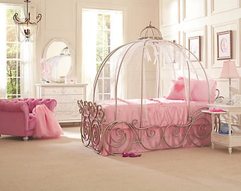 Disney Princess Carriage Bed ! Made for a Princess !