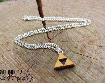 40cm necklace chain pendant triforce Zelda (fimo) geek