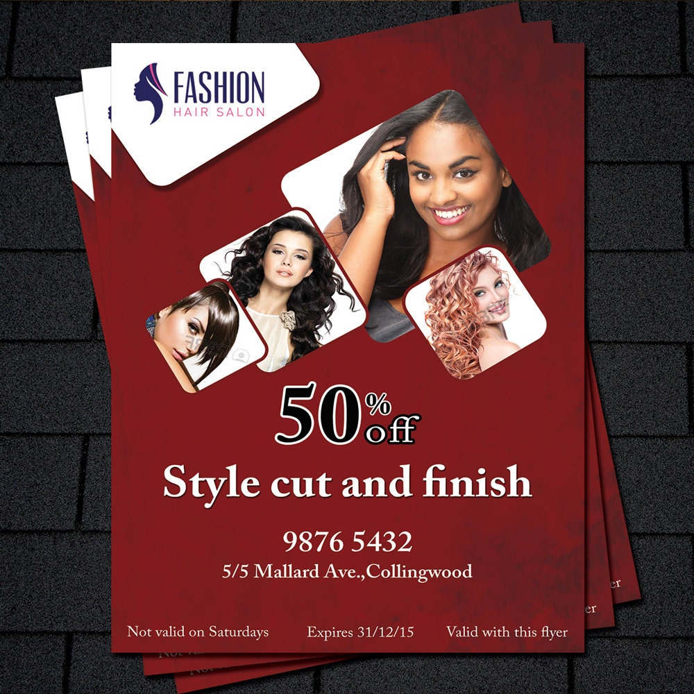 printable flyer template hair salon flyer beauty salon flyer 128270zoom
